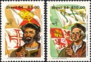 Brazil 1984 Columbus/ Cabral/ Explorers/ Transport/ Sail/ People/ StampEx 2v set (n29330)