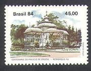 Brazil 1984 Crystal Palace  /  Palm Trees  /  Nature  /  Buildings  /  Architecture 1v (n38130)