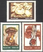 Brazil 1984 Fungi/ Nature/ Plants/ Mushrooms 3v set (b2187)