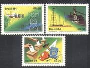 Brazil 1984 Oil  /  Electricity  /  Steel Works  /  Voting  /  Sugar  /  Energy  /  Industry 3v (n38094)
