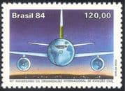 Brazil 1984 Planes/ Aircraft/ Aviation/ ICAO/ Transport/ Business/ Commerce 1v (n29475)