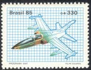 Brazil 1985 AM-X Project/ Planes/ Aviation/ Military/ Aircraft/ Transport 1v (n29284)