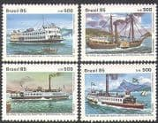 Brazil 1985 Boats  /  Ferry  /  Passenger Ferries  /  Transport  /  Nautical 4v set (n38086)