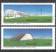 Brazil 1985 Brasilia  /  Theatre  /  House  /  Buildings  /  Architecture 2v set (n38120)