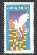 Brazil 1985 Dove  /  Flags  /  UN  /  Birds  /  Animation  /  United Nations 1v (n38278)