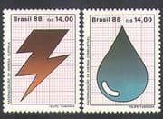 Brazil 1988 Energy Conservation/ Petrol/ Electricity/ Power/ Environment 2v (n38131)