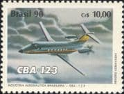 Brazil 1990  Embraer/ Planes/ Aircraft/ Aviation/ Transport/ Industry / Business  1v (n46320)