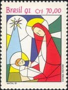 Brazil 1991 Christmas/ Greetings/ Madonna/ Child/ Animation 1v (n46307)