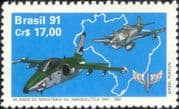 Brazil 1991 Fighter Planes/ Aircraft/ Military/ Aviation/ Transport 1v (n25829)