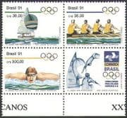 Brazil 1991 Sailing  /  Rowing  /  Swimming  /  Sports  /  Olympic Games  /  Olympics blk (n38119)