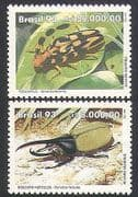 Brazil 1993 Beetles  /  Insects  /  Nature  /  Conservation  /  Environment 2v set (n34335)