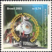 Brazil 2003  Railway Preservation/ Steam Engine/ Locomotive/ Trains/ Rail/ Transport 1v (n46312)