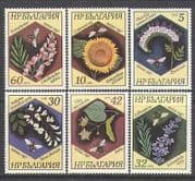 Bulgaria 1987 Flowers  /  Plants  /  Bees  /  Insects 6v set n24889