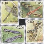 Bulgaria 2005  Dragonflies/ Dragonfly/ Damselfly/ Darter/ Insects/ Nature  4v set  (n14907)