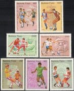 Burkina Faso 1985 Football/ WC/ World Cup/ Mexico'86/ Sports/ Games/ Soccer 7v set (b7347)