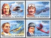 Burundi 2011 Aviation Pioneers/ Planes/ Aircraft/ Transport/ People 4v set (b6548a)