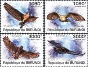 Burundi 2011 Owls/Birds/ Raptors/ Nature/ Wildlife/ Conservation 4v set (b6548c)