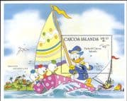 Caicos Islands 1984 Disney/ Easter/ Donald/ Boats/ Sailing/ Cartoons 1v m/s (b3123a)