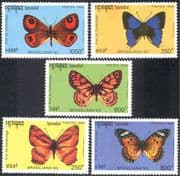 Cambodia 1993 Butterflies/ Insects/ Nature/ Butterfly/ StampEx 5v set (b8090)