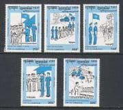 Cambodia 1993 UN  /  Soldiers  /  Sport  /  Military 5v set  n21006