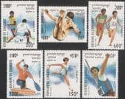 Cambodia 1994 Olympic Games/ Olympics/ Football/Archery/ Canoeing/ Diving/ Sports 6v set (b8493)