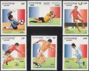 Cambodia 1996 Football/ WC/ World Cup/ France'98/ Sports/ Games/ Soccer 6v set (b9322)