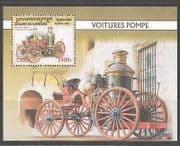 Cambodia 2001 Vintage Steam Fire Engine 1v m  /  s (n10502)
