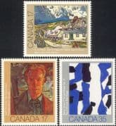 Canada 1981 Canadian Art/ Artists/ Painting/ Painters/ People 3v set (n45463)