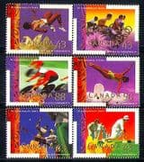 Canada 1994 Games  /  Cycling  /  Sports  /  Disabled 6v set n31034