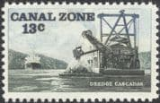 Canal Zone 1976 Dredger/ Ships/ Boats/ Transport/ Commerce/ Trade/ Nautical 1v (n45303)