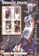 Canouan (St Vincent Grens) 2004  Adonal Foyle/ Basketball/ Sports/ Games/ People  4v m/s (s1968a)