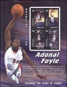 Canouan (St Vincent Grens) 2004  Adonal Foyle/ Basketball/ Sports/ Games/ People  4v m/s (s1968b)