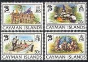 Cayman Is. 1982 Baden Powell  /  Scouts  /  Scouting  /  Cubs  /  Sailing  /  Camp Fire 4v (n39973)