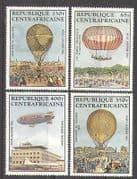 Centrafricaine 1983 AIR BALLOONS  /  Aircraft 4v set n17415