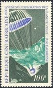"Centrafricaine - Central African Republic 1968 Space/ ""Venus 4"" Capsule /Parachute/ Planets 1v (n18213)"