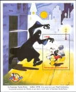 Central African Republic 1998 Disney/ Mickey Mouse/ Ghost/ Cartoons/ Animation 1v m/s (b3123d)
