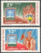 Chad 1967 Scouts/ Scouting/ Jamboree/ Badge/ People/ Youth/ Leisure 2v set (n42585/)