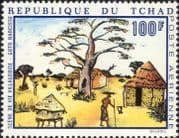 Chad/TChad 1970  African Artists/ Art/ Trees/ Baobab/ Painters/ Paintings 1v (b4100d)