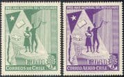 Chile 1960 WRY/ Refugee Year/ Refugees/ Uprooted Tree Emblem/ Book/ Welfare/ People 2v set (n41810)