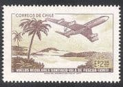 Chile 1972 Plane  /  Aircraft  /  Aviation  /  Commerce  /  Palm Trees  /  Transport 1v (n23671)