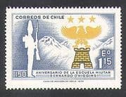 Chile 1972 Soldier  /  Military Academy  /  Eagle  /  Crest  /  Badge  /  Mountains 1v (n37823)