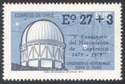 Chile 1973 Copernicus/ Observatory/ Astronomy/ Stars/ Space/ Buildings 1v o/p + surch n41363