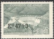 Chile 1974 Dam/ Reservoir/ Hydro-Electricity/ Energy/ Power/ Buildings/ Construction/ Architecture 1v surcharge (n43159)