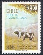 Chile 1981 Cattle  /  Farming  /  Animals  /  Disease  /  Cows  /  Nature 1v (n37894)