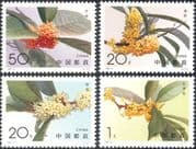 China 1995 Sweet Osmanthus/ Flowers/ Plants/ Nature/ Horticulture 4v set (n25479)