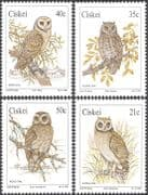 Ciskei 1991 Barn Owl/ Marsh/ Scops/ Wood/ Owls/ Birds/ Raptors/ Nature/ Wildlife  4v set (n19944)
