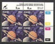 Ciskei 1992 SPACE  /  Planets 25c control blk rprt (n20159)