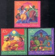 Cocos (Keeling) Is 1996 Hari Raya Festival/ Drums/ Family/ Cooking/ Music 3v set (n18162)