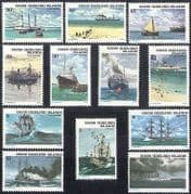 Cocos (Keeling) Islands 1976 Ships  /  Boats  /  Navy  /  Sail  /  Sailing  /  Transport 12v n40179