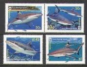 Cocos (Keeling) Islands 2005 Sharks  /  Coral 4v set n20695